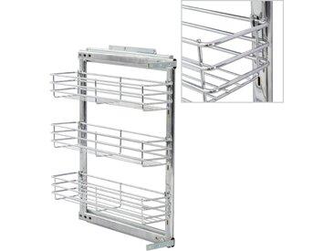 Panier à 3 niveaux métallique de cuisine 47x15x56 cm - vidaXL
