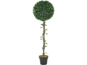 Plante artificielle Laurier avec pot Vert 130 cm - vidaXL