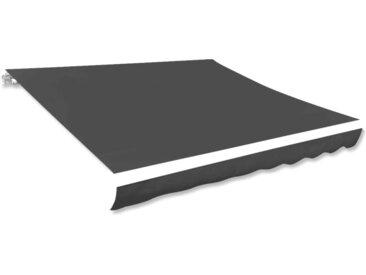 Toile d'auvent Anthracite 450x300 cm - vidaXL