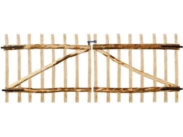 Portillon double pour clôture Bois de noisetier 300 x 120 cm - vidaXL