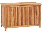 Boîte de rangement de jardin 90x50x58 cm Bois de teck solide - vidaXL