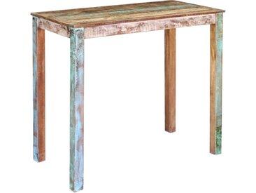 Table de bar Bois massif de récupération 115x60x107 cm - vidaXL