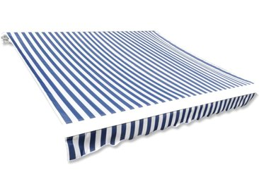 Toile d'auvent Bleu et blanc 500x300 cm - vidaXL