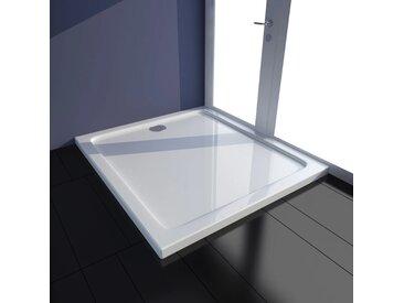 Receveur de douche rectangulaire ABS Blanc 80 x 90 cm - vidaXL
