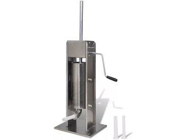 Poussoir à saucisse verticale en acier inoxydable 5 L - vidaXL