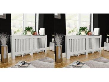 Cache-radiateurs 2 pcs Blanc MDF 172 cm - vidaXL