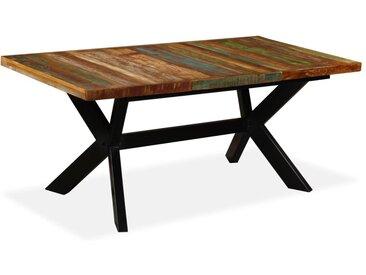 Table de salle à manger Bois massif recyclé Acier 180 cm - vidaXL