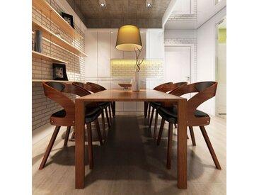Chaises de salle à manger 6 pcs Marron Similicuir - vidaXL