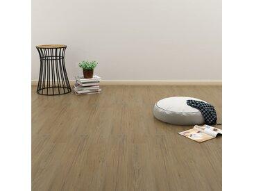 Planches de plancher autoadhésives 4,46 m² PVC Marron naturel  - vidaXL
