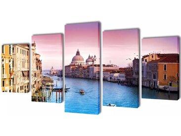 Set de toiles murales imprimées Venise 200 x 100 cm - vidaXL