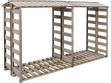 Abri de stockage du bois de chauffage 300x100x176cm Pin imprégné - vidaXL