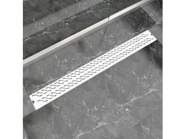 Drain de douche linéaire 1030 x 140 mm Acier inoxydable - vidaXL