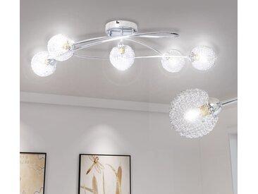 Plafonnier avec abat-jour en fils métalliques 5 ampoules G9 - vidaXL