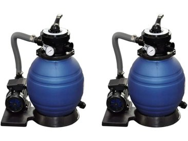 Pompes à filtre à sable 2 pcs 400 W 11000 l/h - vidaXL