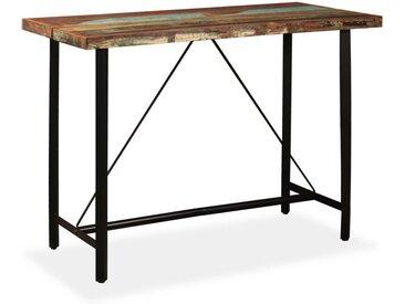 Table de bar Bois massif de récupération 150 x 70 x 107 cm - vidaXL