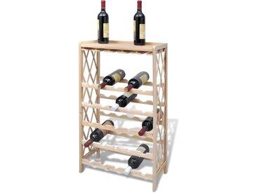 Casier à bouteilles pour 25 bouteilles Bois de sapin solide - vidaXL