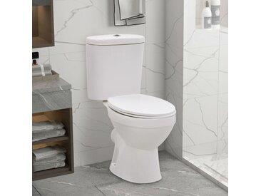 Toilette sur pied et réservoir et siège à fermeture en douceur - vidaXL