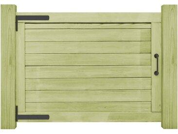 Portail de jardin Bois de pin imprégné FSC 75 x 100 cm - vidaXL