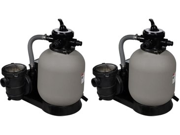 Pompes à filtre à sable 2 pcs 600 W 17000 l/h - vidaXL