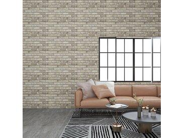 Panneaux muraux 3D avec design de brique sable 11 pcs EPS - vidaXL