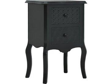 Table de chevet Noir 43x32x65 cm MDF - vidaXL