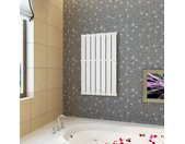 Porte-serviette 542mm + Radiateur panneau blanc 542mm x 900mm - vidaXL