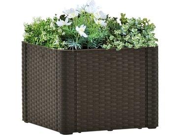 Lit surélevé de jardin avec système d'arrosage Moka 43x43x33 cm - vidaXL
