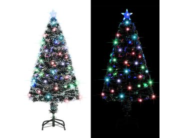 Arbre de Noël artificiel et support/LED 120 cm 135 branches - vidaXL