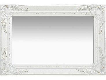 Miroir mural style baroque 60x40 cm Blanc - vidaXL