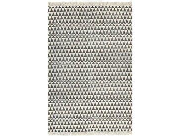 Tapis Kilim Coton 160 x 230 cm avec motif noir/blanc - vidaXL