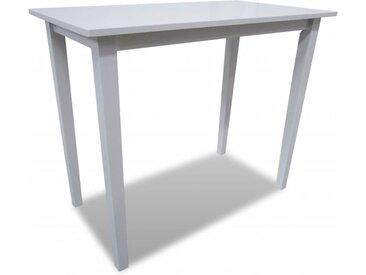Table de bar en bois Blanc  - vidaXL