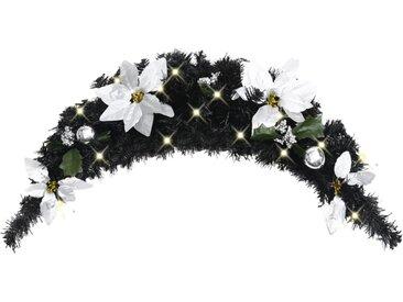Arche de Noël avec lumières LED Noir 90 cm PVC - vidaXL