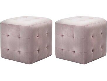 2 pcs Tables de chevet Rose 30x30x30 cm Tissu velours - vidaXL