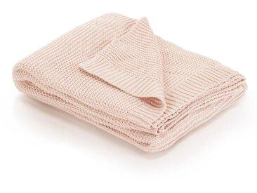 Couverture tricotée Coton 130 x 171 cm Rose - vidaXL