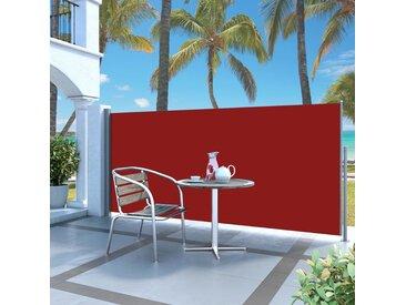 Auvent latéral rétractable 120 x 300 cm Rouge - vidaXL