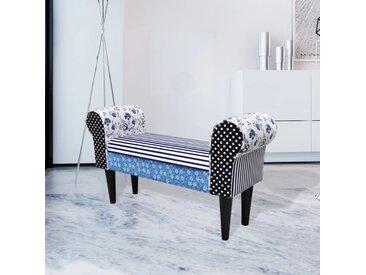 Tabouret de style pastoral de couleurs bleu et blanc - vidaXL