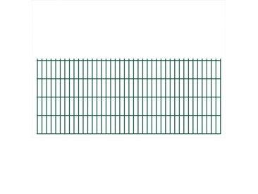 Panneaux de clôture 2D pour jardin 2008x830 mm 16 m Vert  - vidaXL