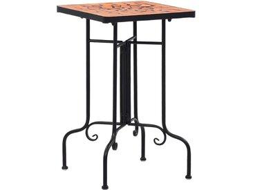 Table de bistro mosaïque Terre cuite Céramique - vidaXL