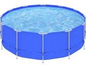 Piscine avec cadre en acier 457x122 cm Bleu - vidaXL
