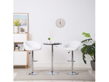Chaises de bar 2 pcs Blanc Similicuir - vidaXL