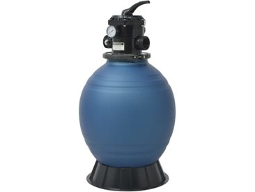 Filtre à sable pour piscine avec vanne 6 positions Bleu 460 mm - vidaXL