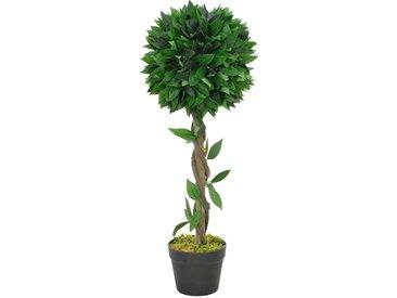 Plante artificielle Laurier avec pot Vert 70 cm - vidaXL