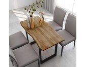 Table de salle à manger 118x58x76 cm Bois d'acacia solide - vidaXL