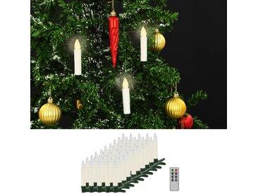 Bougies LED sans fil avec télécommande 50 pcs Blanc chaud - vidaXL