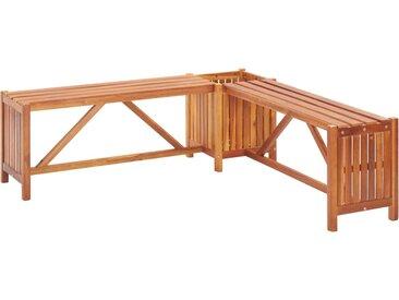Banc de jardin et jardinière 150x150x40 cm Bois solide d'acacia - vidaXL