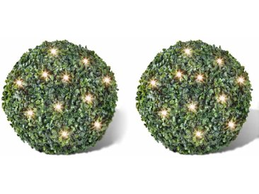 2 pièce de boule 35 cm avec guirlande lumineuse solaire 24 LED - vidaXL