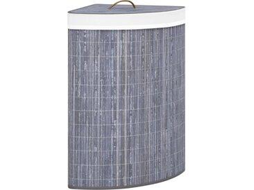 Panier à linge d'angle Bambou Gris 60 L - vidaXL