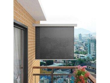 Auvent latéral de balcon multifonctionnel 150 x 200 cm Gris - vidaXL