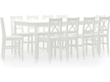 Ensemble de salle à manger 11 pcs Pinède Blanc - vidaXL