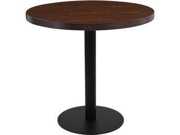 Table de bistro Marron foncé 80 cm MDF - vidaXL